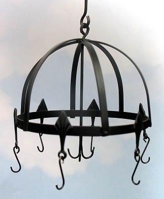 Wrought Iron hanging pot rack 55