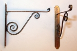 Wrought Iron Pot Rack Hangers - Pair 56H