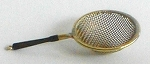 Copper & brass fine mesh strainer w/Rosewood handle 516