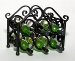 Wrought Iron Wine Rack 123-WR