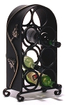 Wrought Iron Wine Rack 124-WR