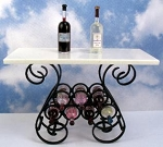 Black Wrought Iron Wine Table 411-WRT
